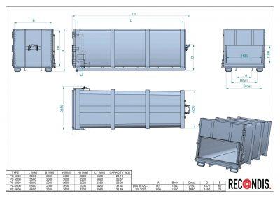 Containere statie transfer deseuri
